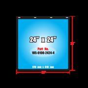 บังโคลนพีวีซี 24  x 24