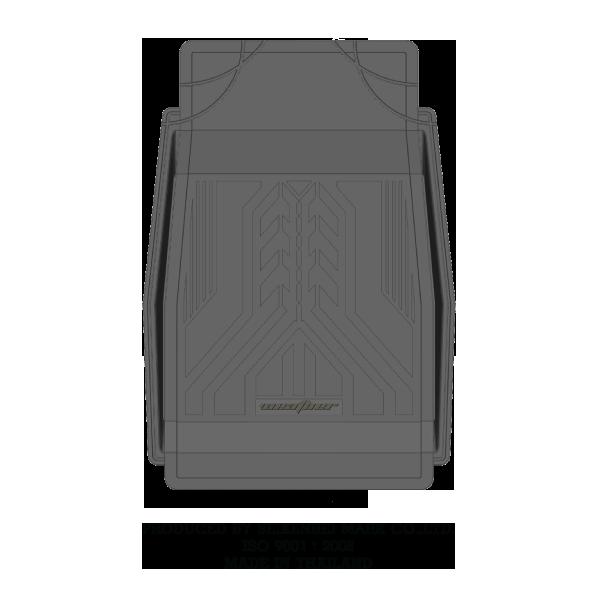 ยางปูพื้นถาดลาย WEATHER (ถาดหน้าใหญ่) Gray